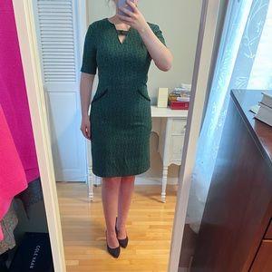 Vintage Dress Short Sleeves & Keyhole Front Size S